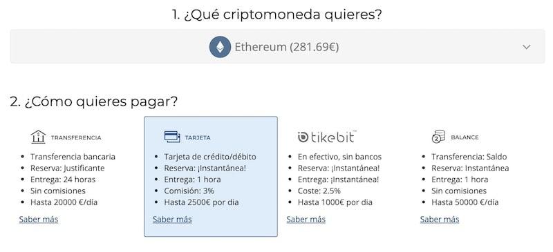 comprar-ethereum-bit2me-metodos-pago