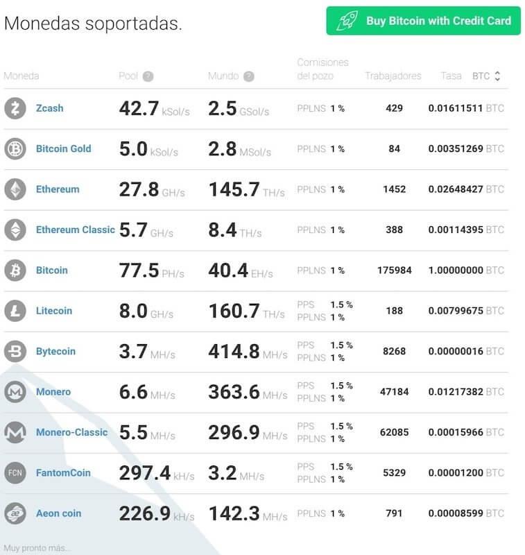 lista-de-criptomonedas-soportadas-en-minergate